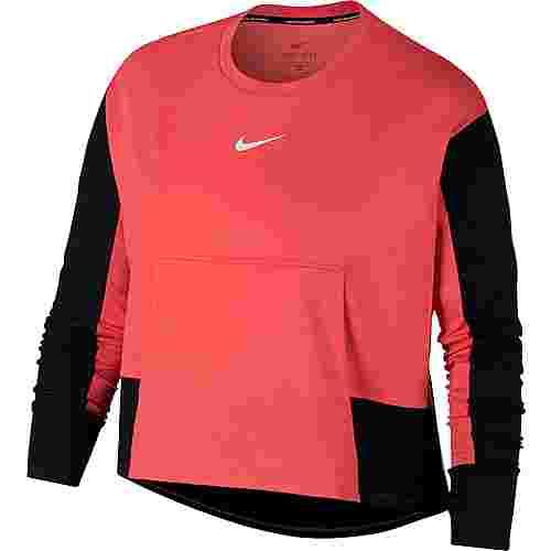 Nike Top Pacer Laufshirt Damen ember glow-black-white