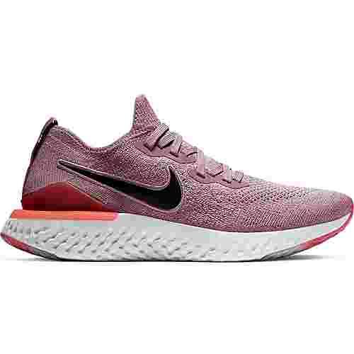 Nike Epic React Flyknit 2 Laufschuhe Damen plum dust-black-ember glow