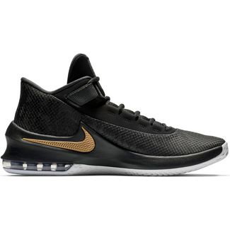 check out b88e0 ca365 Nike Air Max Infuriate 2 Mid Basketballschuhe Herren anthracite-metallic  gold-black