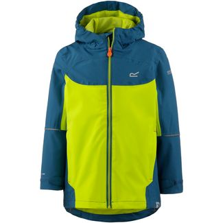 Regatta Hipoint Stretch IV Regenjacke Kinder Sea Blue/Lime Punch