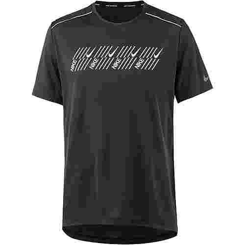Nike Miler Tech Laufshirt Herren black-htr