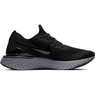 Nike Epic React Flyknit 2 Laufschuhe Damen black-black-white-gunsmoke