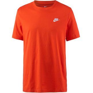 Nike NSW Club T-Shirt Herren team orange-white