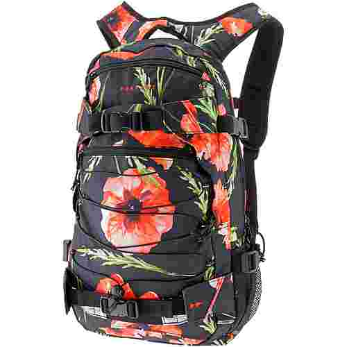Forvert Rucksack Allover Louis Daypack black poppy