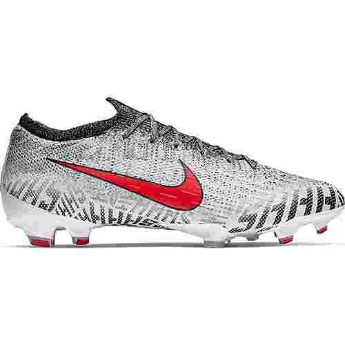 Nike MERCURIAL VAPOR 12 ELITE NJR FG Fußballschuhe white-challenge red-black-black