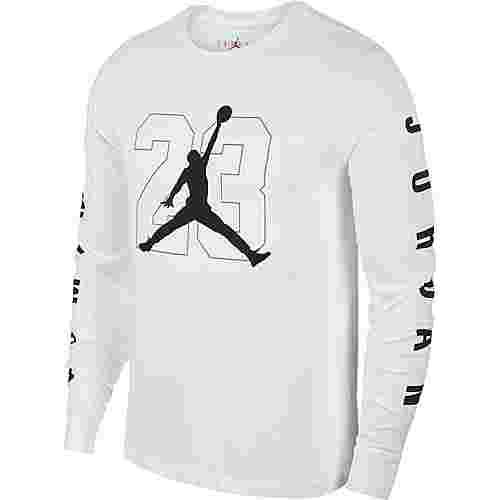 Nike Langarmshirt Herren white-black