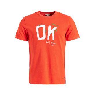 Khujo ELIJAH OK T-Shirt Herren koralle