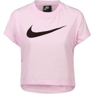 Nike NSW Swoosh T-Shirt Damen pink foam-black