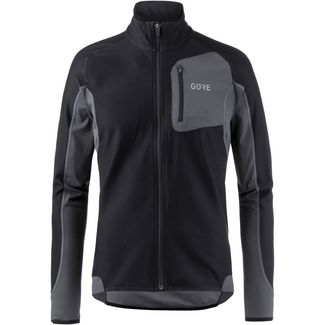 GORE® WEAR R3 Partial WINDSTOPPER® GORE-TEX® Laufshirt Herren black-terra grey