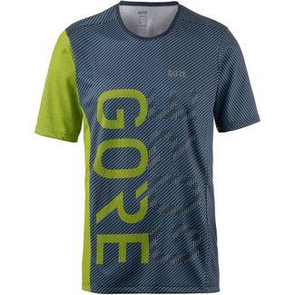 GORE® WEAR M Brand Laufshirt Herren deep water blue-citrus green
