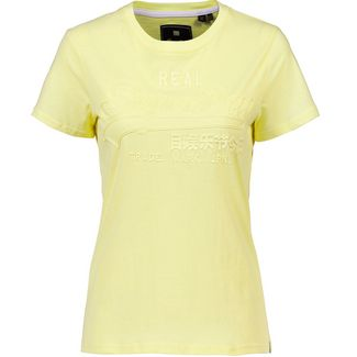 Superdry Vintage Logo T-Shirt Damen wax yellow