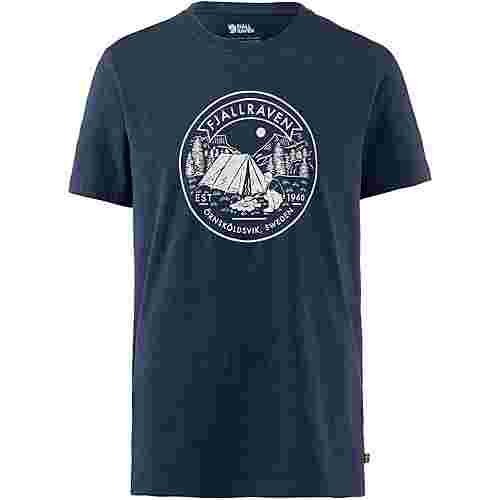 FJÄLLRÄVEN Lägerplats T-Shirt Herren navy