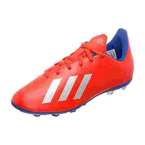 adidas X 18.4 Fußballschuhe Kinder rot / silber