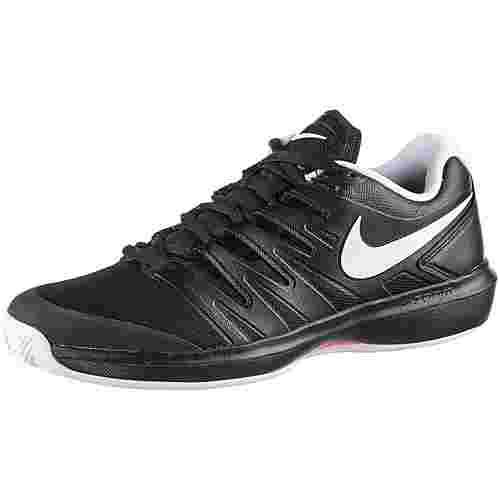 Nike AIR ZOOM PRESTIGE CLY Tennisschuhe Herren black-white-bright crimson
