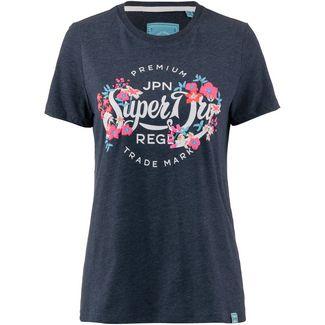 Superdry T-Shirt Damen rinse navy marl