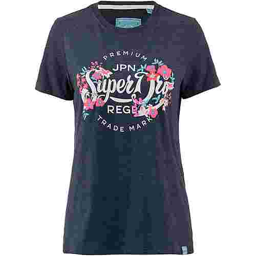 Superdry T-Shirt Damen rinse navy marl