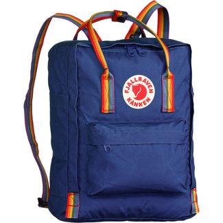 FJÄLLRÄVEN Rucksack Kånken Rainbow Daypack deep blue-rainbow pattern