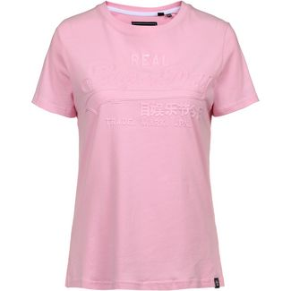 Superdry Vintage Logo T-Shirt Damen fondant pink