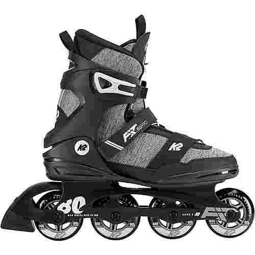 K2 F.I.T. 80 PRO Fitness Skates Herren schwarz-grau