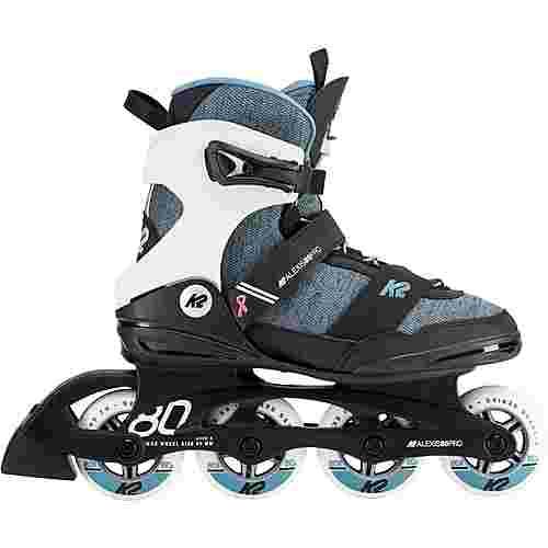 K2 ALEXIS 80 PRO Fitness Skates Damen schwarz-türkis