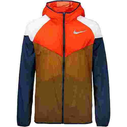 Nike Windrunner Laufjacke Herren ale brown-team orange-obsidian-reflective silv