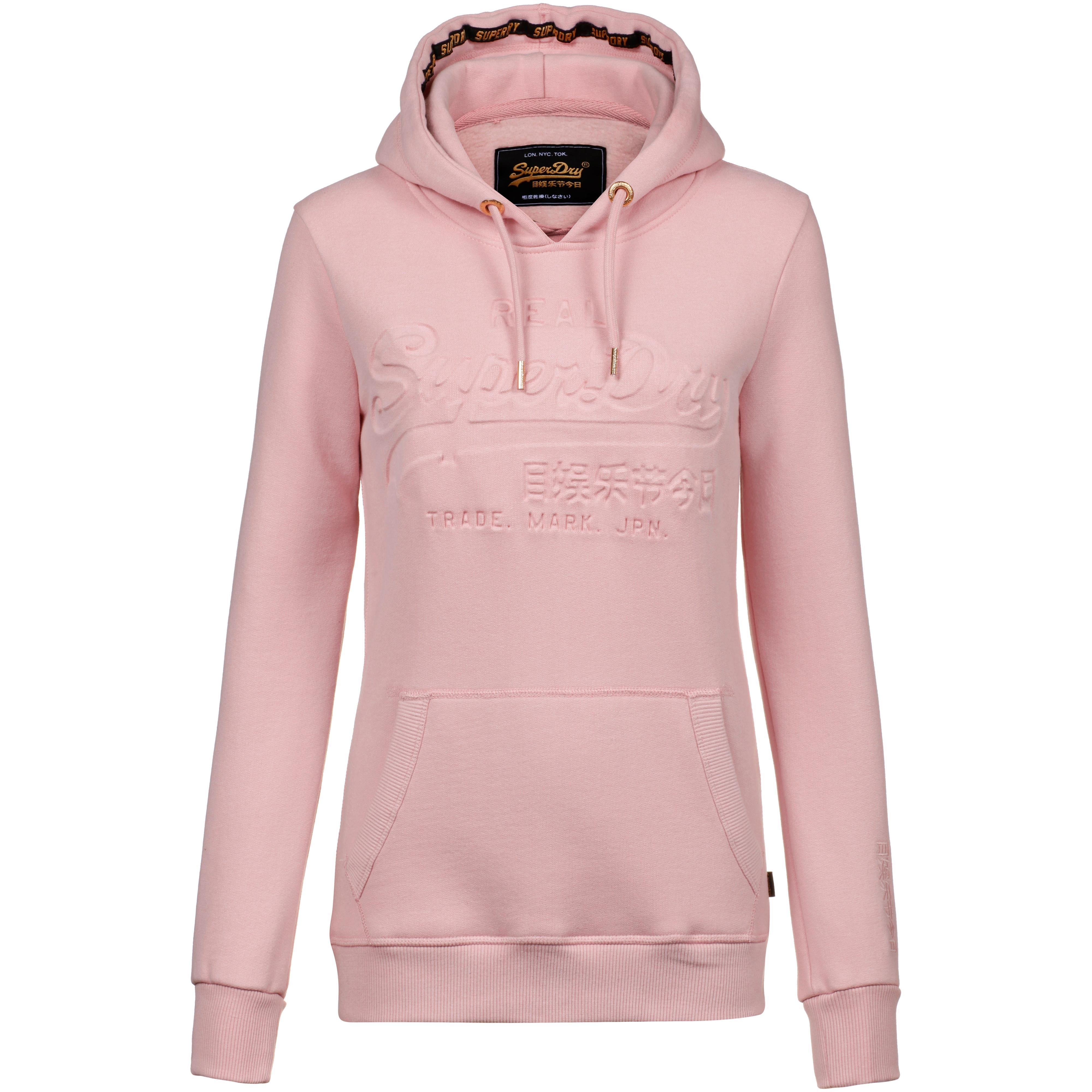 superdry shop aktuelle superdry trends online bei sportscheck kaufen  superdry v logo hoodie damen soft pink
