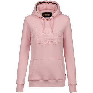 Superdry V Logo Hoodie Damen soft pink
