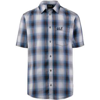 Jack Wolfskin HOT CHILI Kurzarmhemd Herren night blue checks