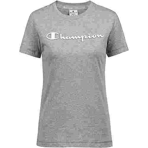 CHAMPION T-Shirt Damen oxford grey melange yarn dyed