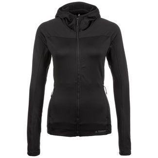 adidas Terrex TraceRocker Hooded Fleece Laufjacke Damen schwarz