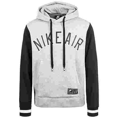 Nike Air Fleece Hoodie Herren grau / schwarz