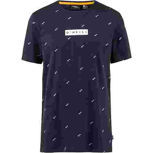 O'NEILL Allover Summer T-Shirt Herren blue aop with pink or purple