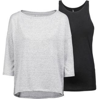 Only onlALBERTA 2-In-1 Pullover Damen light grey melange-black