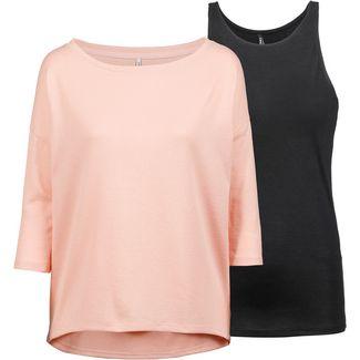 Only onlALBERTA 2-In-1 Pullover Damen misty rose-black