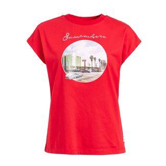 Khujo KRISTOS STREET T-Shirt Damen koralle
