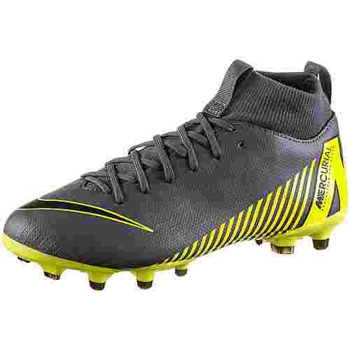Nike JR MERCURIAL SUPERFLY 6 ACADEMY GS FG/MG Fußballschuhe Kinder dk grey-black-dk grey-opti yellow