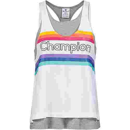 CHAMPION Tanktop Damen oxford grey melange yarn dyed-white