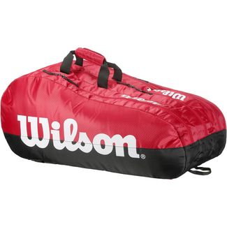 Wilson TEAM 3 COMP Tennistasche black-red