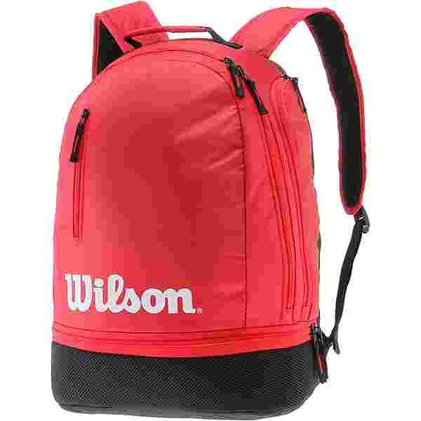 Wilson TEAM Tennisrucksack black-red