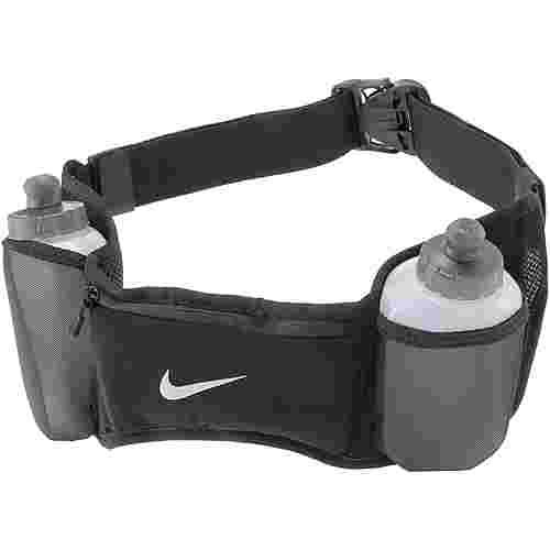 Nike Double Pocket Flask Belt 20oz/600ml Trinkflaschengurt black-black-silver