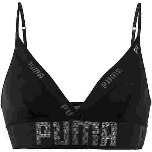 PUMA Sheer Bustier Damen black