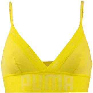 PUMA Sheer Bustier Damen yellow