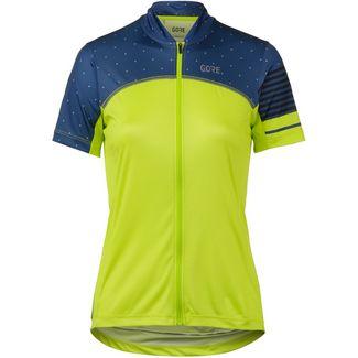 GORE® WEAR C5 Trikot GORE-TEX® Fahrradtrikot Damen citrus green/deep water blue