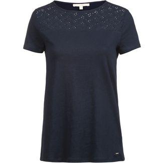 TOM TAILOR Schiffli T-Shirt Damen sky captain blue