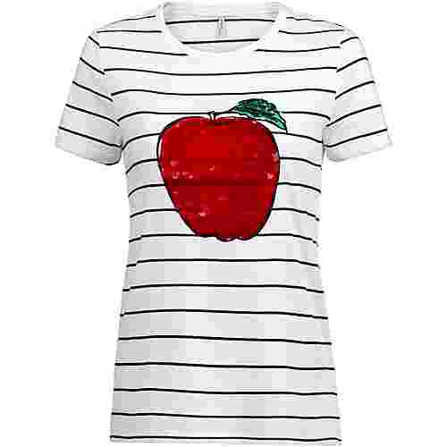 Only onlKITA T-Shirt Damen bright white-apple