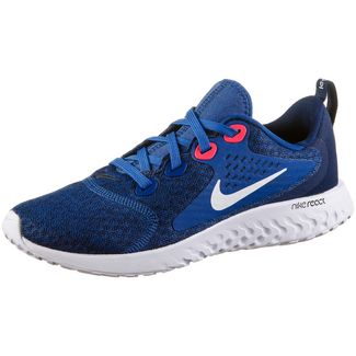 Nike Legend React Laufschuhe Kinder indigo-force-white-blue-void-red-orbit