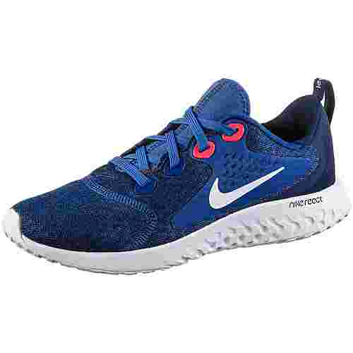 Nike Legend React Laufschuhe Kinder indigo-force-white-blue-void-red-orbit