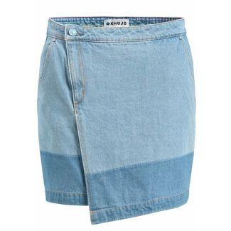 Khujo KEEVA Jeansrock Damen jeansblau hell