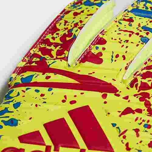 adidas Classic League Torwarthandschuhe Torwarthandschuhe Herren Solar Yellow / Active Red / Football Blue
