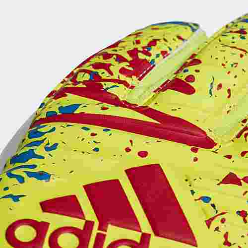 adidas Classic Pro Torwarthandschuhe Torwarthandschuhe Herren Solar Yellow / Active Red / Football Blue